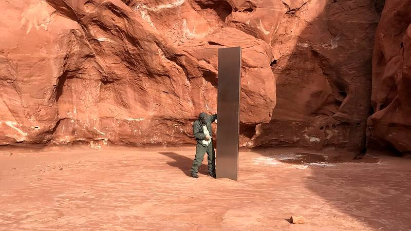 The Monolith Found In Utah Has Disappeared, Officials Say