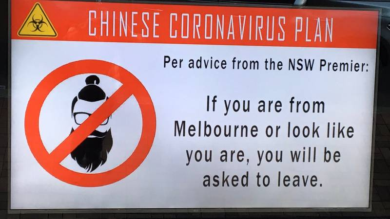Sydney Pub Under Fire For 'Chinese Coronavirus Plan' And Dig Against People From Melbourne
