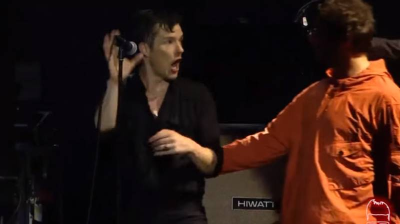 Liam Gallagher Crashes The Killers' Lollapalooza Set In Brazil
