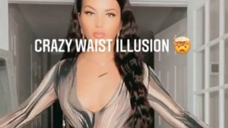 People Baffled By Optical Illusion Dress Which Makes Woman's Waist 'Disappear'