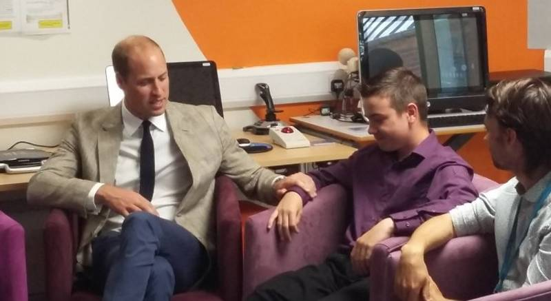 Prince William Comforts Young Lad Who Lost His Mum Too