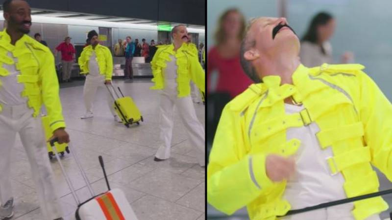 Heathrow Staff Pay Tribute To Freddie Mercury On His 72nd Birthday