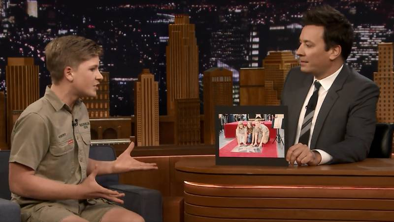 Steve Irwin's Son Does His Dad Proud On 'The Tonight Show'