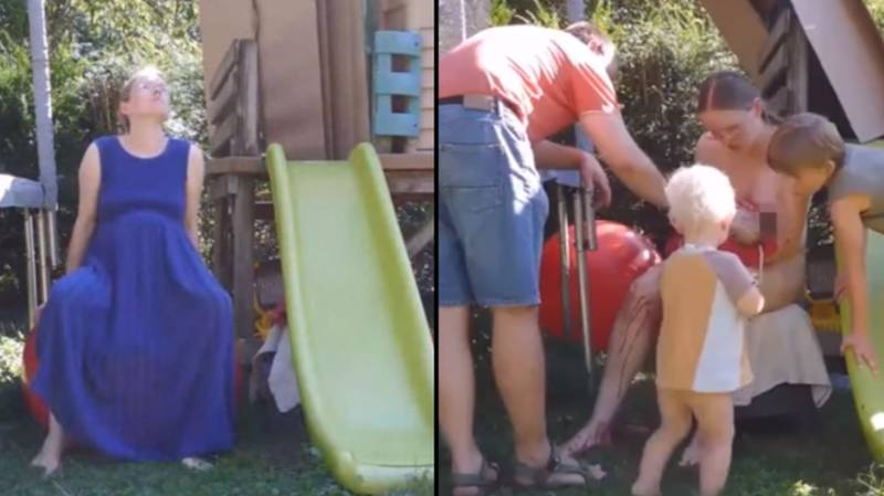 Mother Gives Birth In Back Garden And Broadcasts It To 1.4 Million