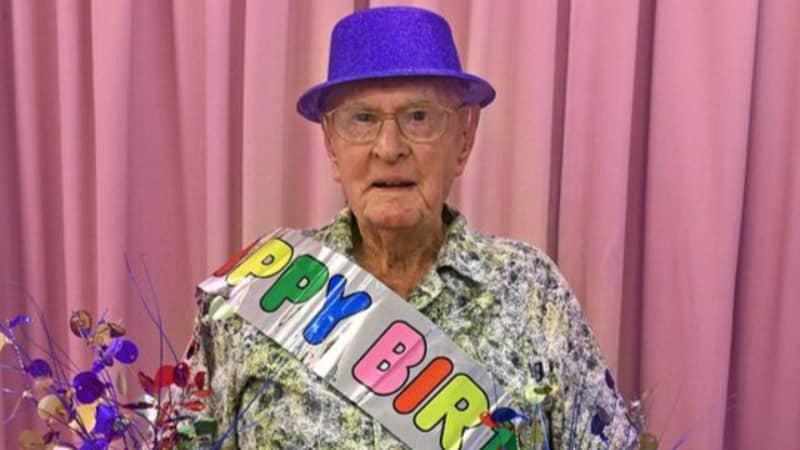 Oldest Living Australian Says He Eats 'Half A Dozen Prawns A Day' As He Celebrates His 111th Birthday