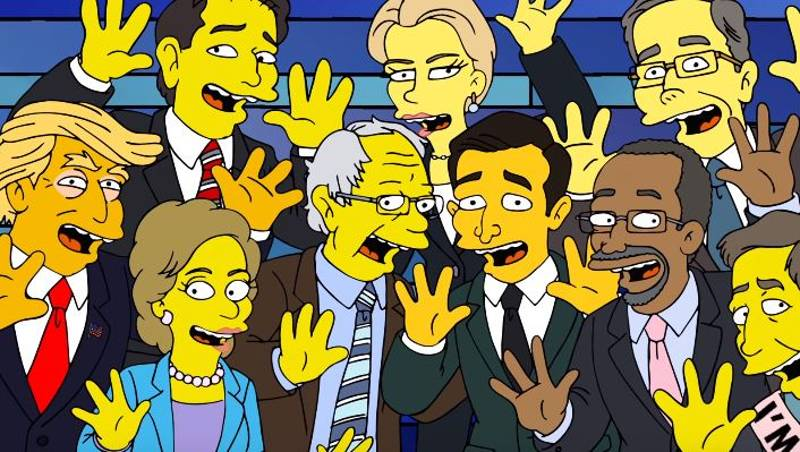 The Presidential Candidates Fight Each Other In New 'Simpsons' Sketch