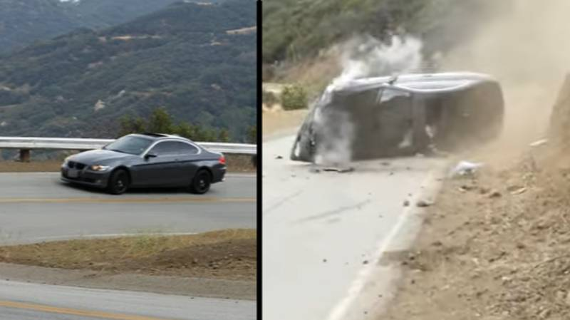 Man Gets Instant Karma When He Tries To Show Off In His New BMW