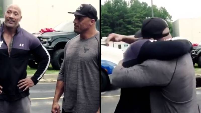 Dwayne Johnson Just Surprised His Stunt Double With A Brand New Car