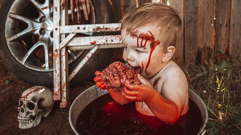 Mum Criticised For Zombie-Themed Halloween Photoshoot Of Her Toddler