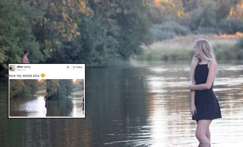Girl's Graduation Pictures Photobombed By Naked Man And His Dog