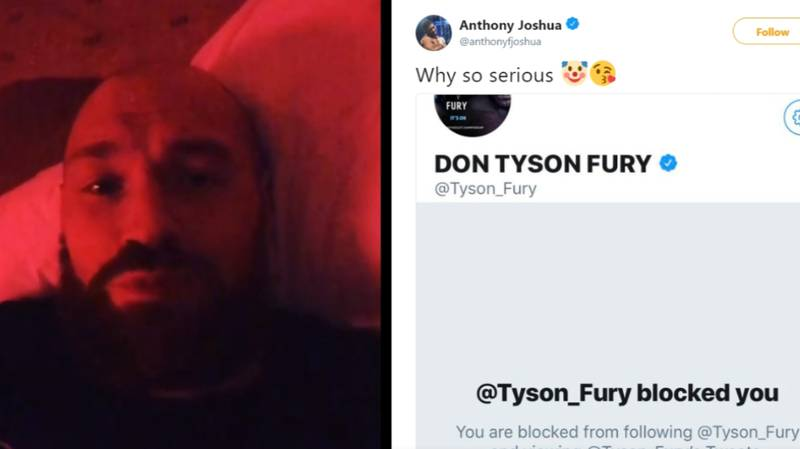 Tyson Fury Blocks Anthony Joshua On Twitter After Calling Him Out In Brutal Rant