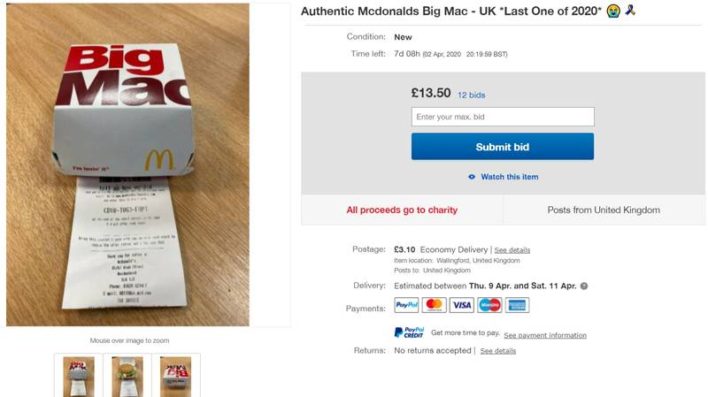 People Are Selling McDonald's Big Macs And Chicken Nuggets On Ebay