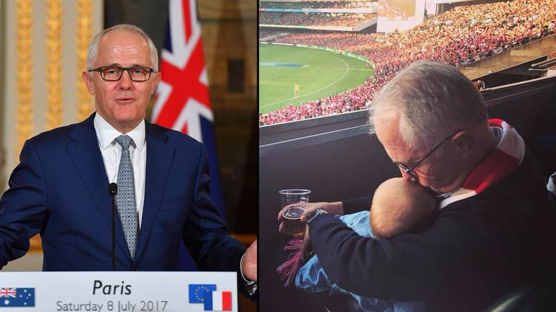 Crikey! Aussie Prime Minister Causes Controversy Over 'Baby And Beer' Picture