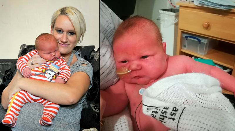 Mother Gives Birth To Huge Baby Weighing Over 12lbs