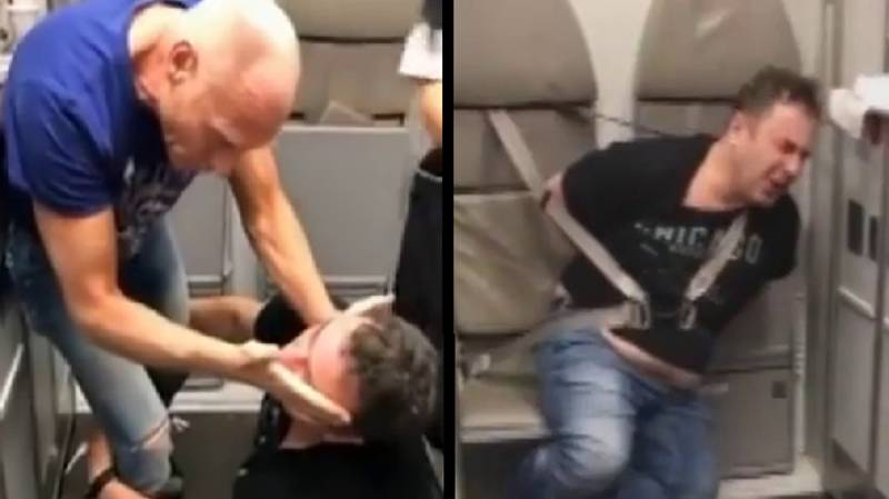 Drunk Doctor Tackled As He Tried To Open Plane Door Mid-Flight