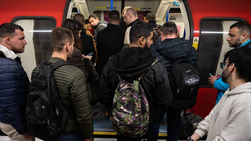 Commuters Cram Together On Tubes And Trains Despite Coronavirus Warnings