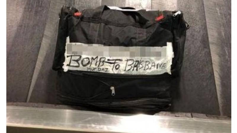 Granny Causes Panic At Airport With Bag That Says BOMB On The Side