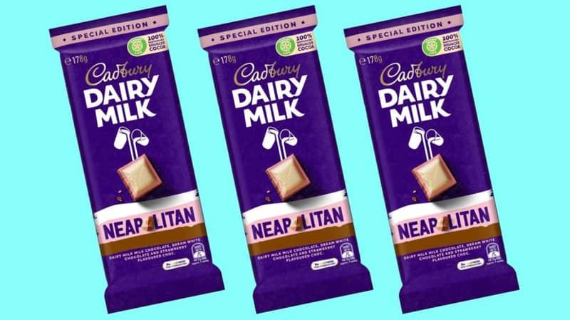 Cadbury Is Doing A Neapolitan Chocolate Block In Australia