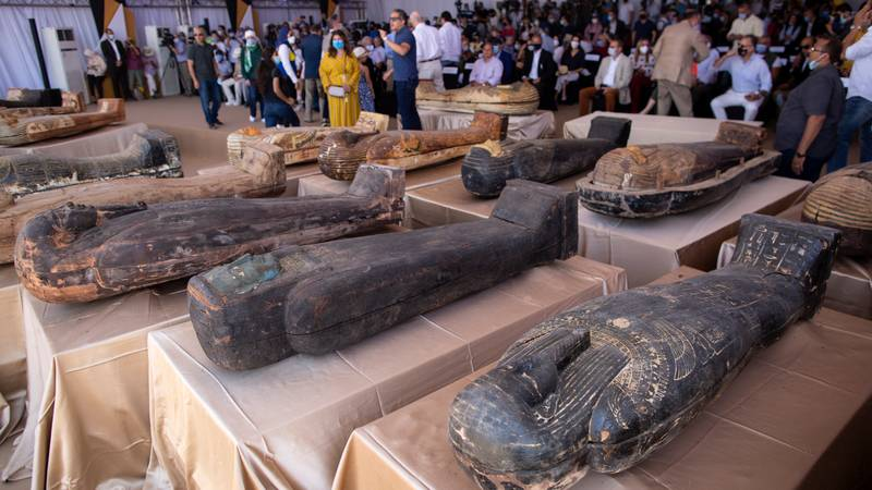 Newly-Discovered Ancient Egyptian Sarcophagus Opened For The First Time In 2,500 Years