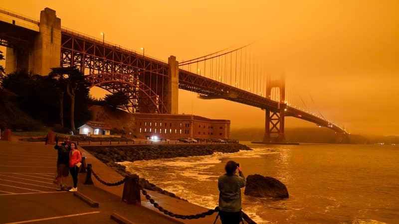 Smoke From California Wildfires Turns San Francisco Sky Orange