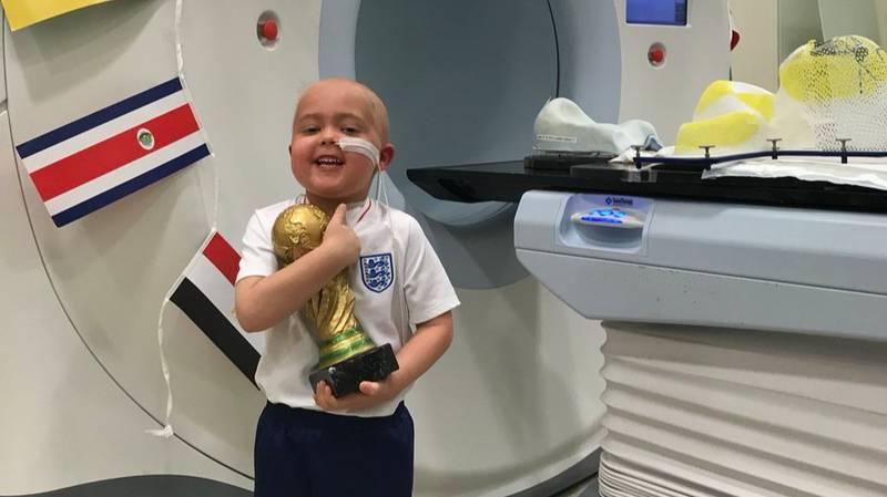 This Brave Little LAD Got His Own World Cup After Radiotherapy