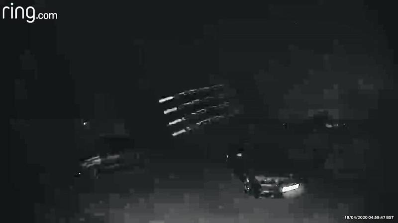 Dad Left 'Freaked Out' As CCTV Captures Four UFO-Looking Flying Objects Over His Driveway