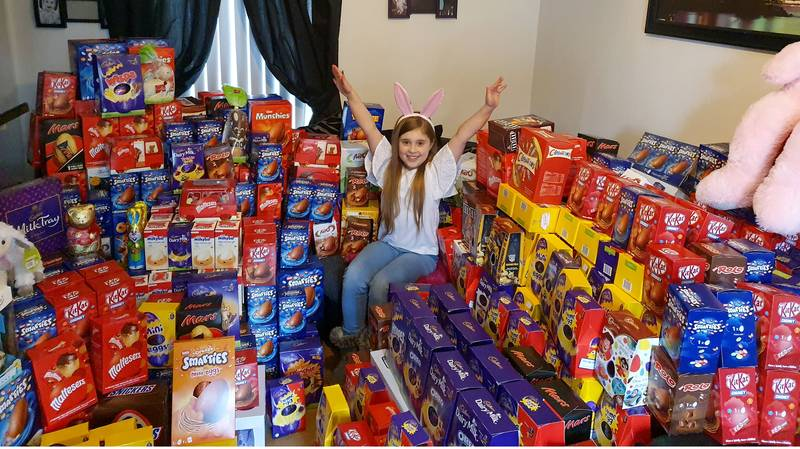 Little Girl, 9, Collects Hundreds Of Easter Eggs For Sick Children