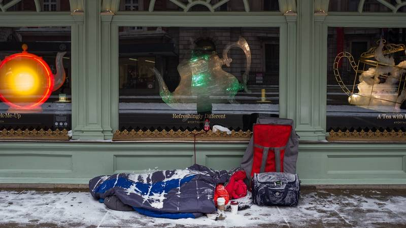 UK's Restaurants Rally To Feed The Homeless As Snowy Weather Continues