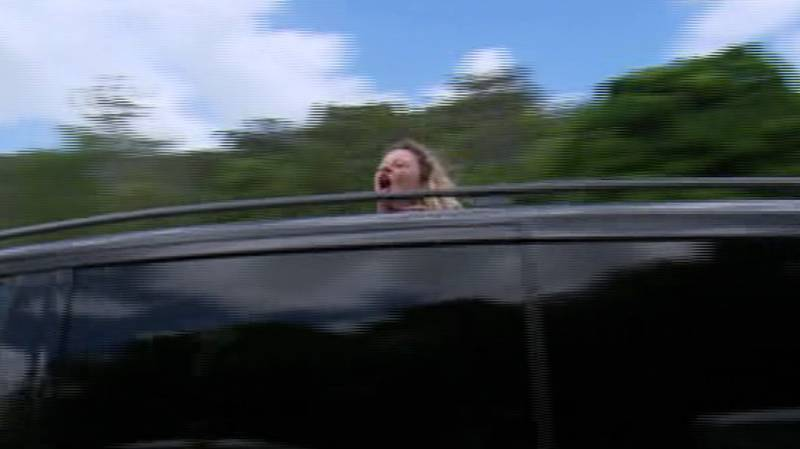 Emily Atack Recreates 'Bus W*****s' Scene From 'The Inbetweeners'