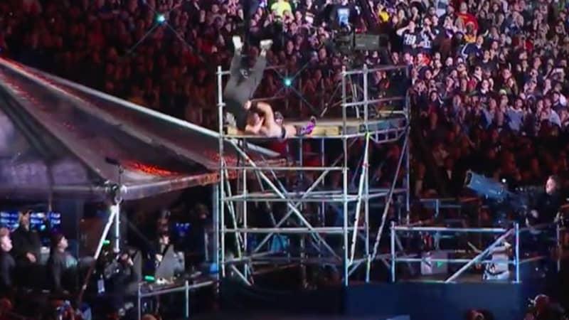 The Miz Just Threw Shane McMahon Off A 5 Metre Drop During WrestleMania 35