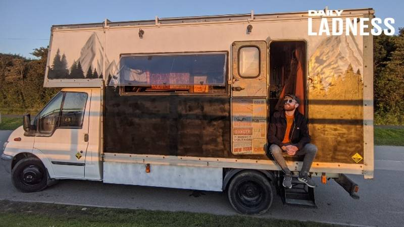 Man Creates Dream Home In Old Removals Van For Just £16,000