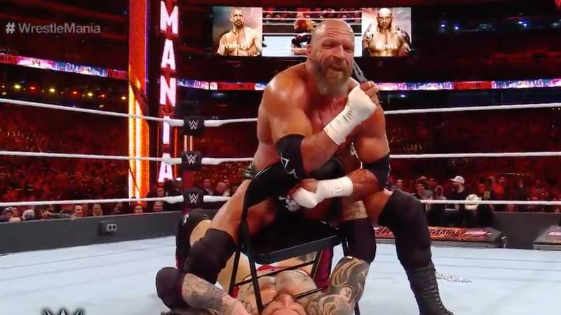 Triple H Ripped Out Dave Batista's Nose Ring At WrestleMania 35 With A Pair Of Pliers