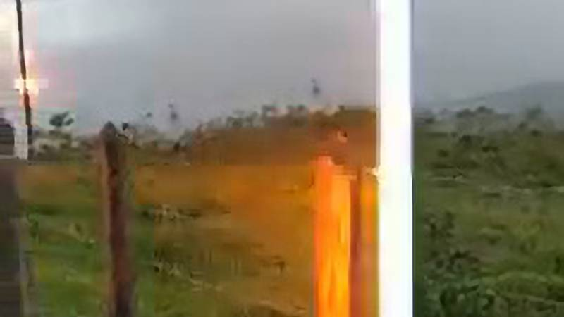 Man Captures The Moment He Is Struck By Lightning As He Talks About 'God's Nature'