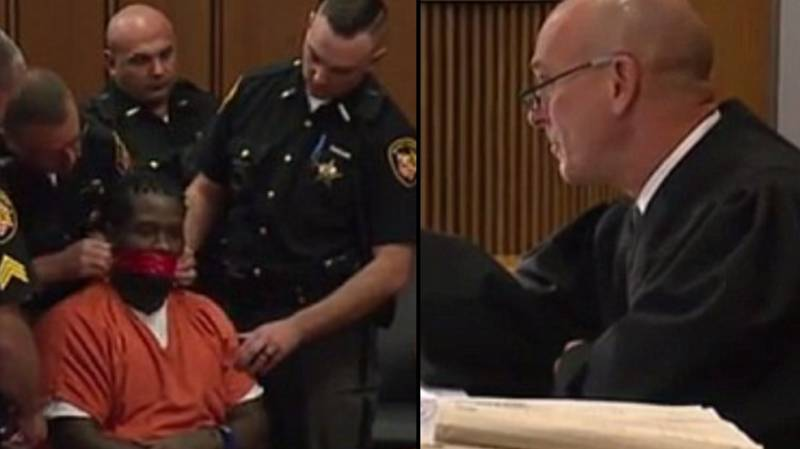 Judge Orders Cops To Tape Armed Robber's Mouth Shut During Sentencing