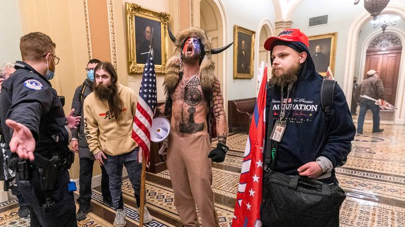 Capitol Rioter Who Wore Horned Hat Feels He Was 'Duped' By Donald Trump