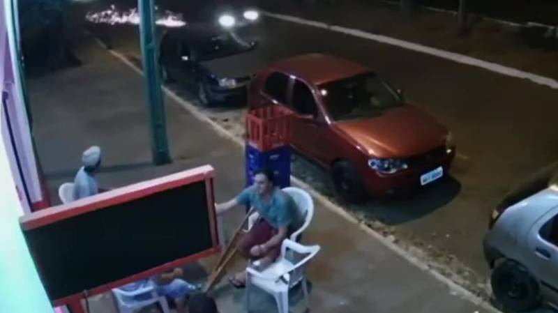 Man Hit By Runaway Car Tyre And Gets Catapulted From Seat