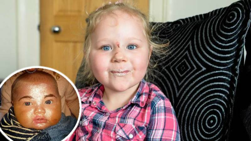 Girl, 3, Gives Sleeping Baby Brother Makeover 'To Look Like Mummy'