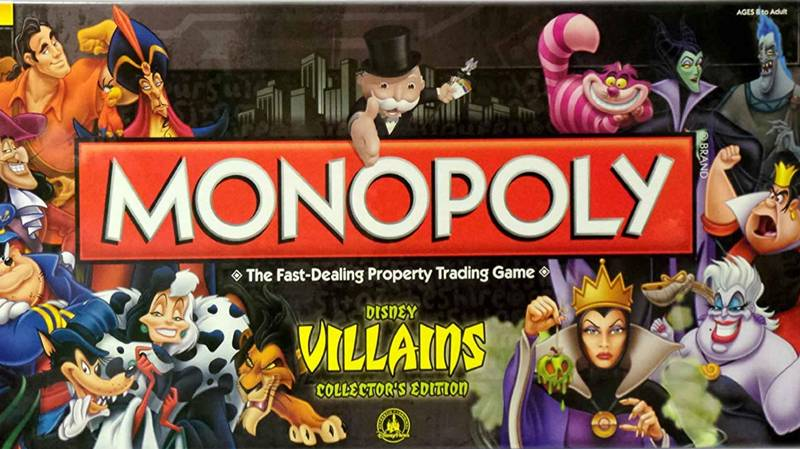 Feeling Evil? Disney Villain Monopoly Officially Exists
