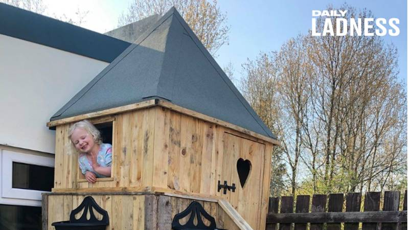 Dad Creates Incredible £10 Treehouse For His Daughter
