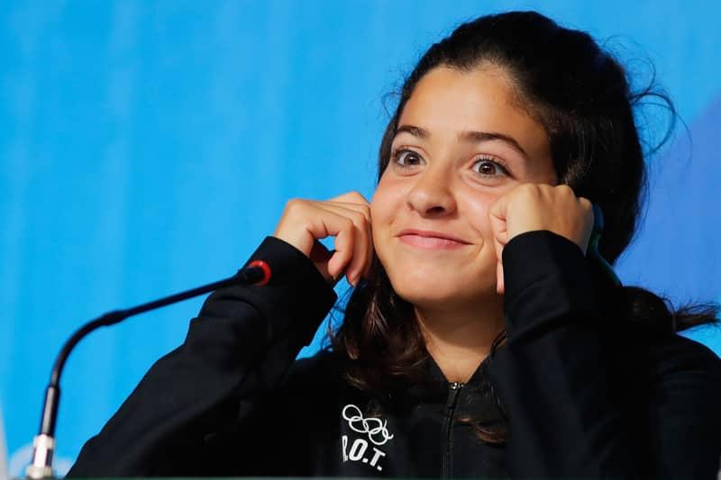 Syrian Refugee Yusra Mardini Wins Her First Heat