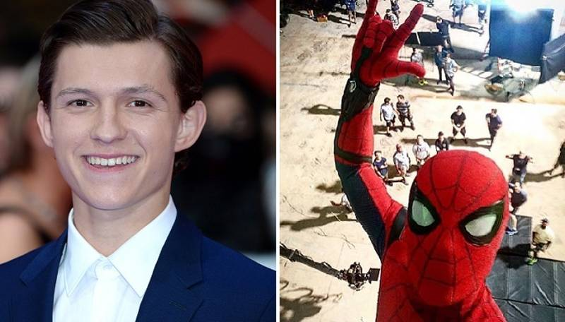 Tom Holland Shared An Awesome Spider-Man Selfie From The Set Of The New Film