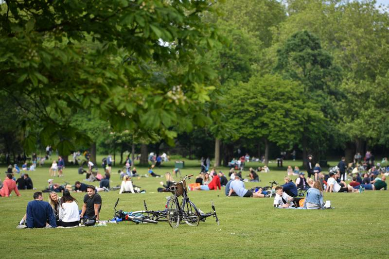 UK Parks And Beaches Packed Despite Lockdown Warnings