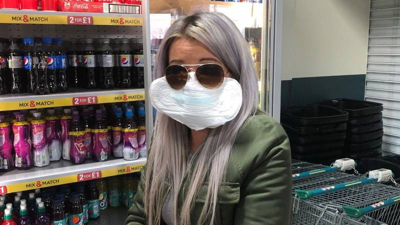 Poundland Shopper Sticks Sanitary Towel To Her Face After Forgetting Mask