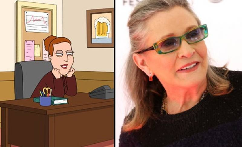 'Family Guy' Pays Tribute To Late Actress Carrie Fisher