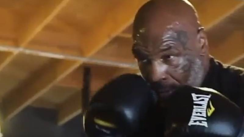Mike Tyson Shows Off His Legendary Speed In New Training Video