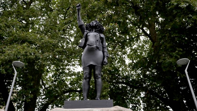 Statue Of Black Lives Matter Protester Placed On Edward Colston Plinth