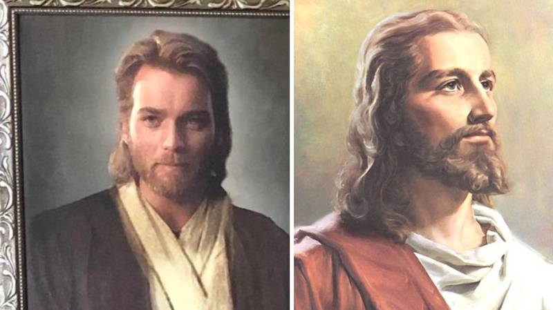 Son Pranks Religious Mum With Ewan McGregor 'Jesus Picture'