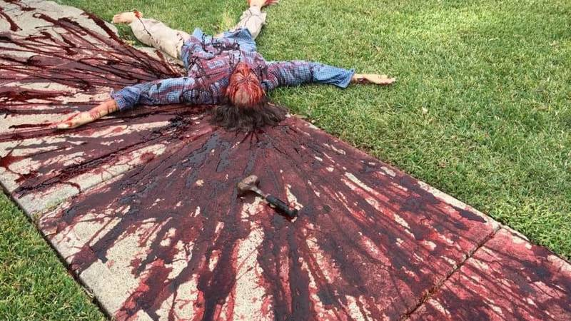 Artist Visited By The Cops Because Of His Gruesome Halloween Decorations