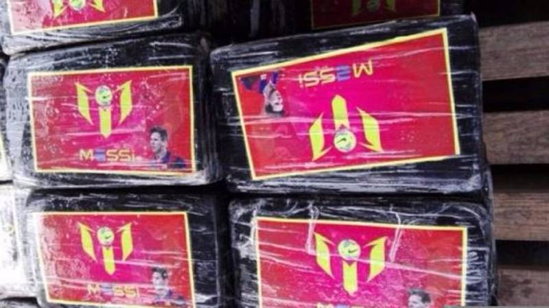 Peru Police Seize £73 Million Worth Of Cocaine Branded With Lionel Messi's Face