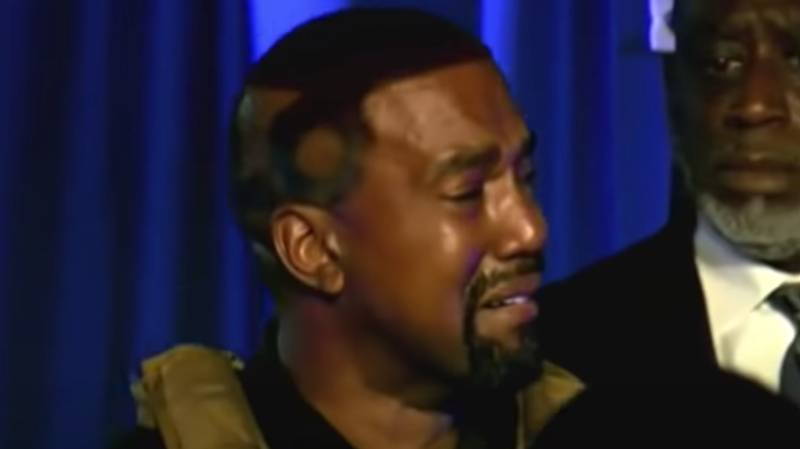 Kanye West Breaks Down In Tears During His First US Presidential Campaign Rally